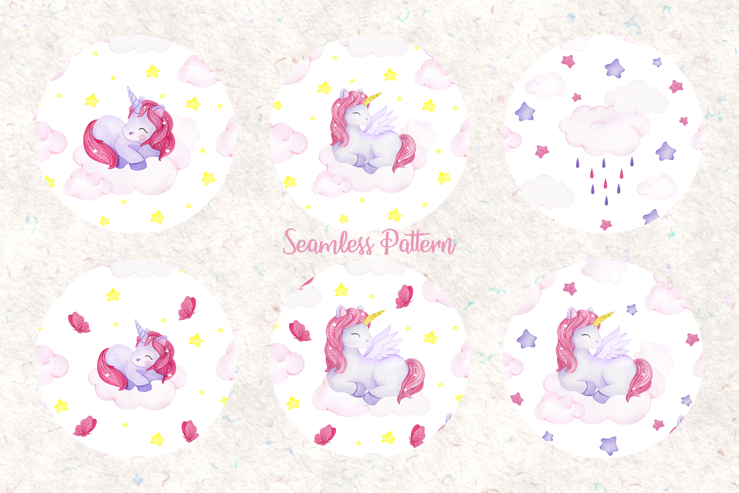 Unicorn set. Watercolor collection example image 5