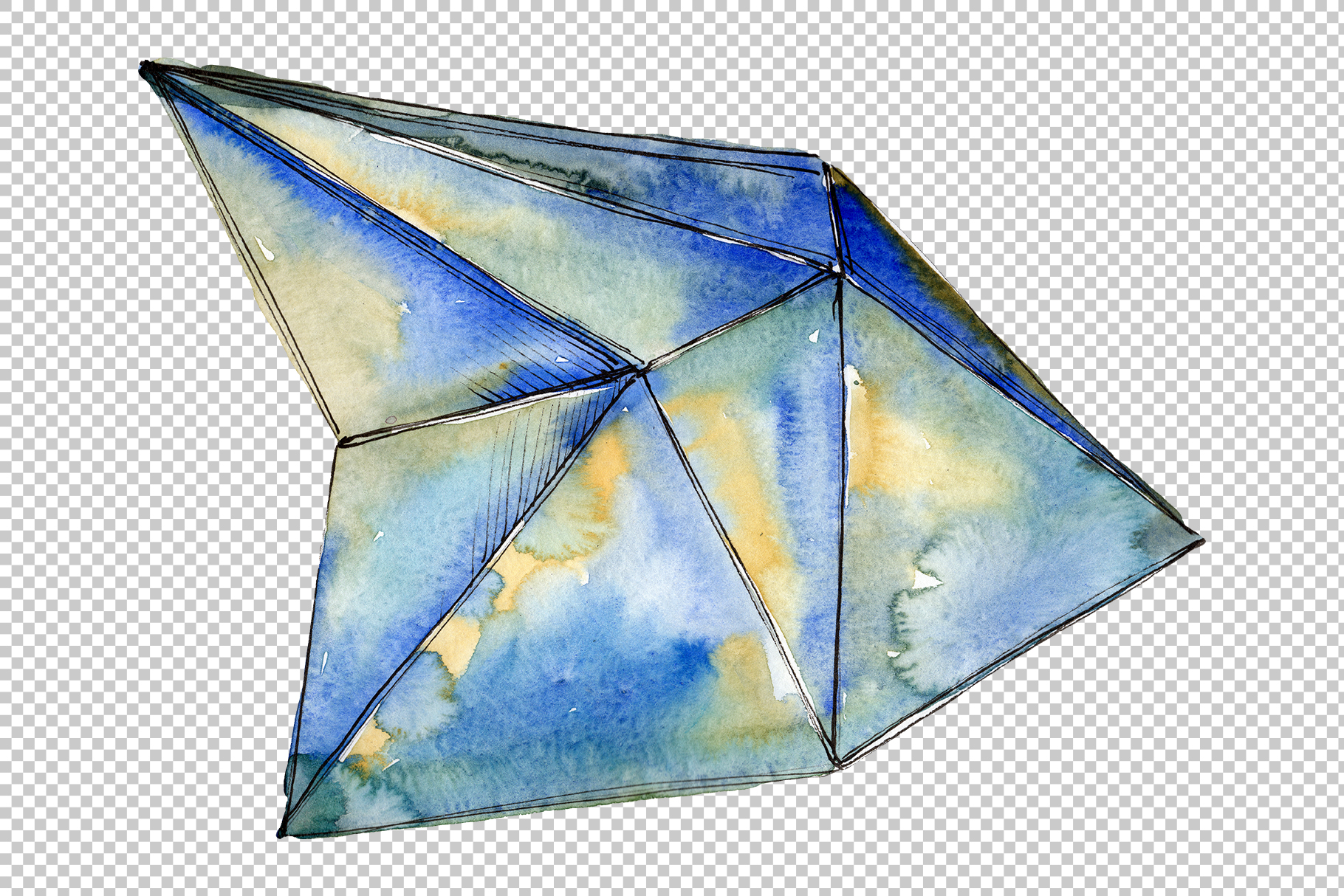 Violet crystals Watercolor png example image 5