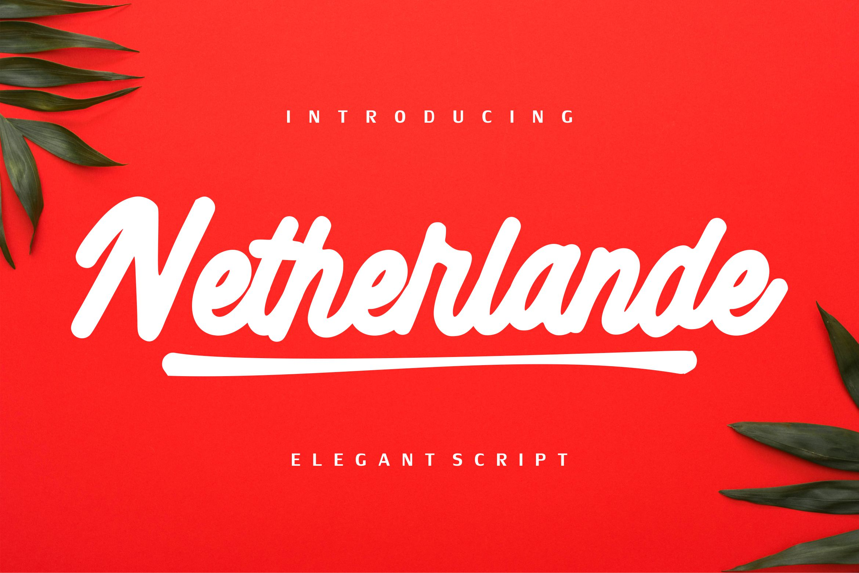 Netherlande - Elegant Script example image 1