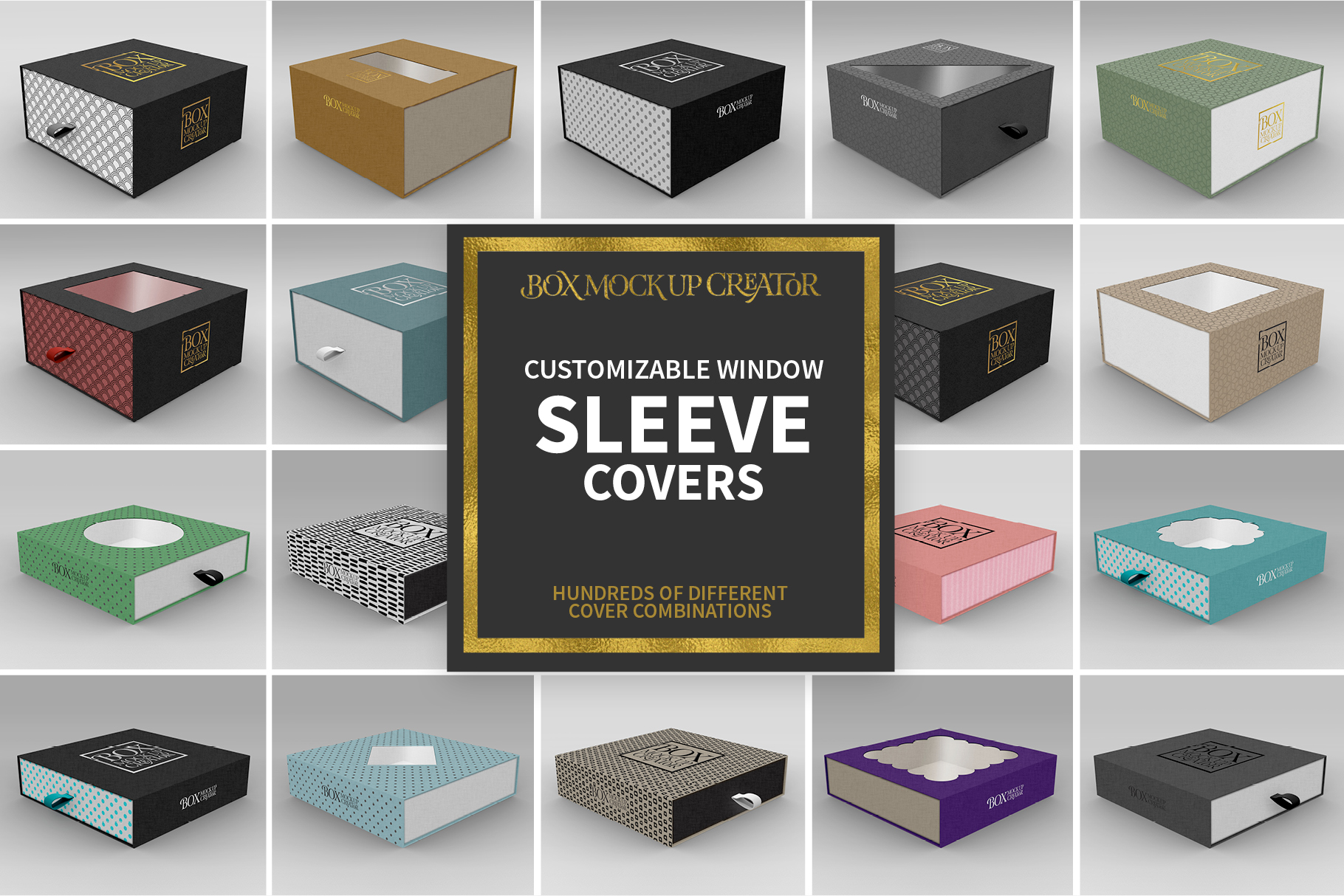 Square Box Packaging Mockup Creator example image 8