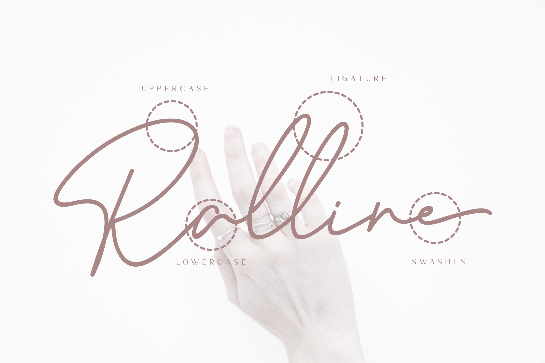 Ralline - Modern Script Font example image 10