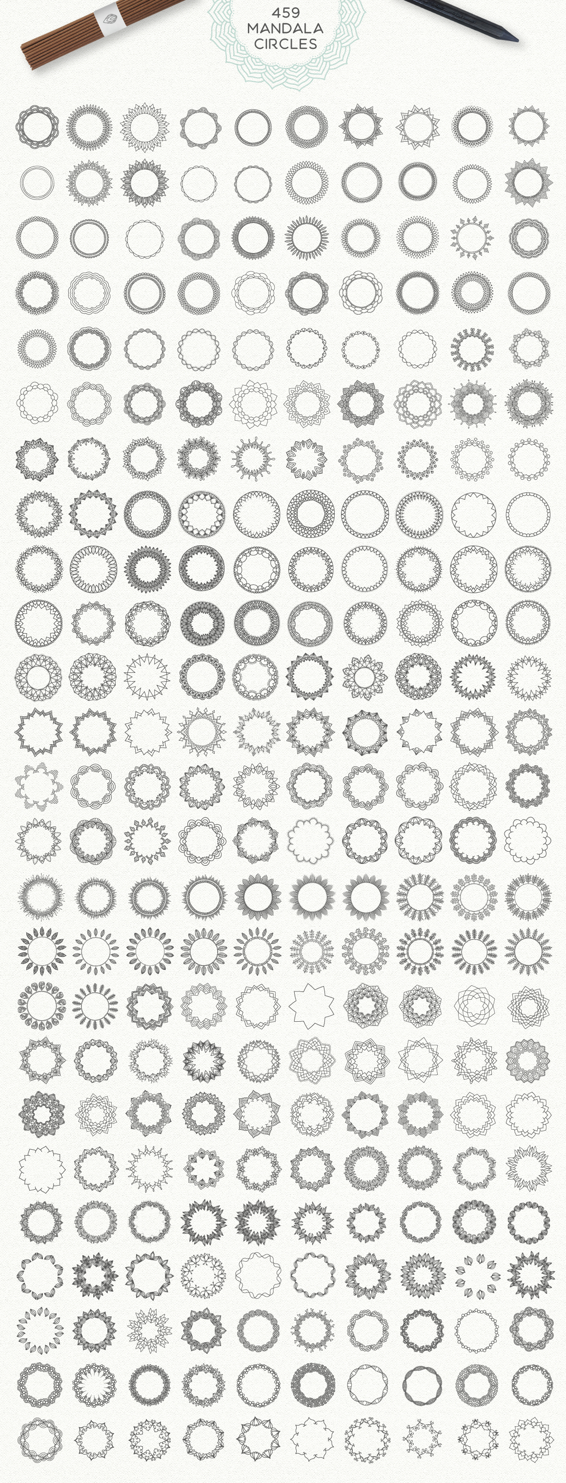 Mandala Collection [630 Elements] example image 3