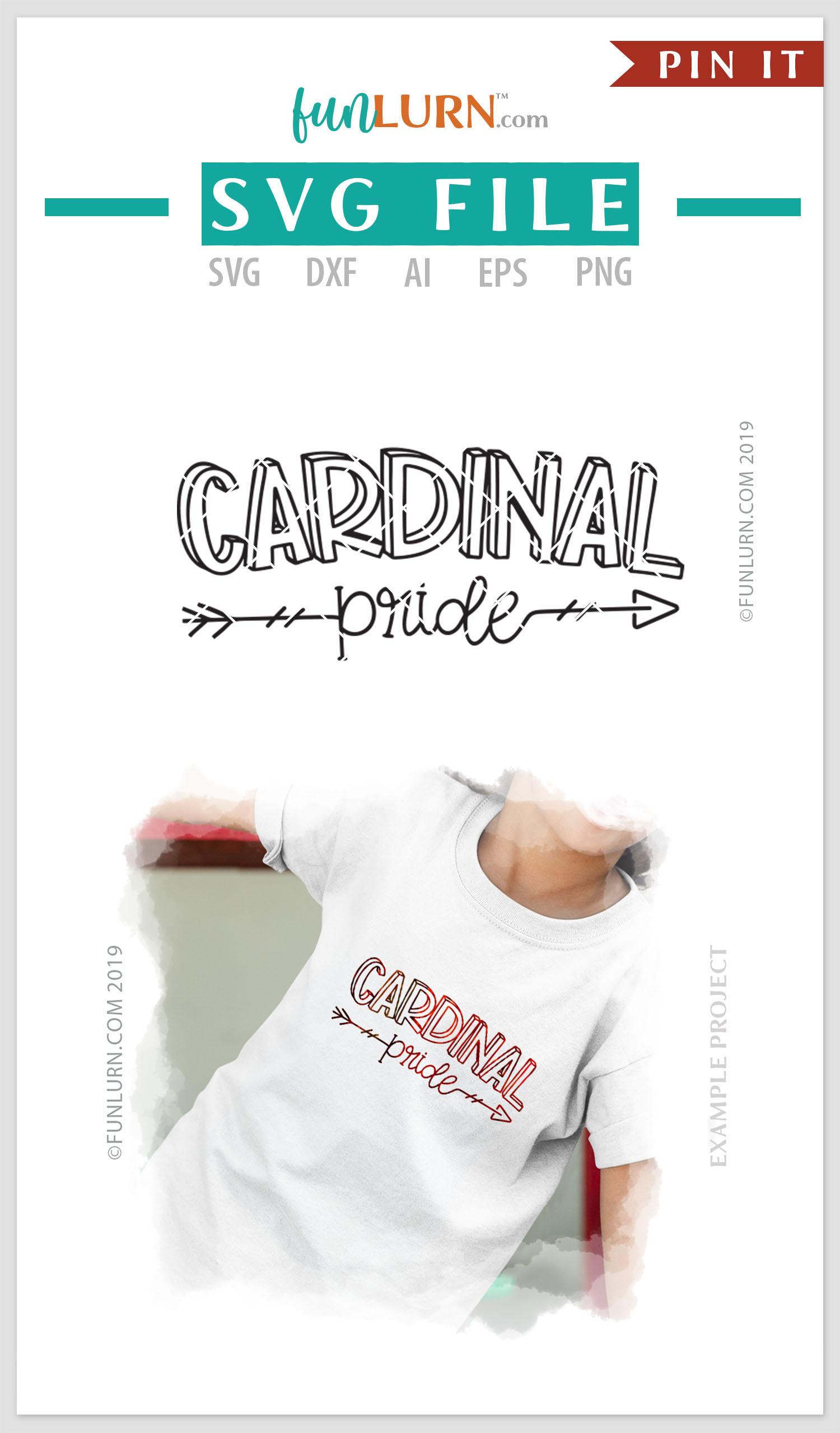 Cardinal Pride Team SVG Cut File example image 4