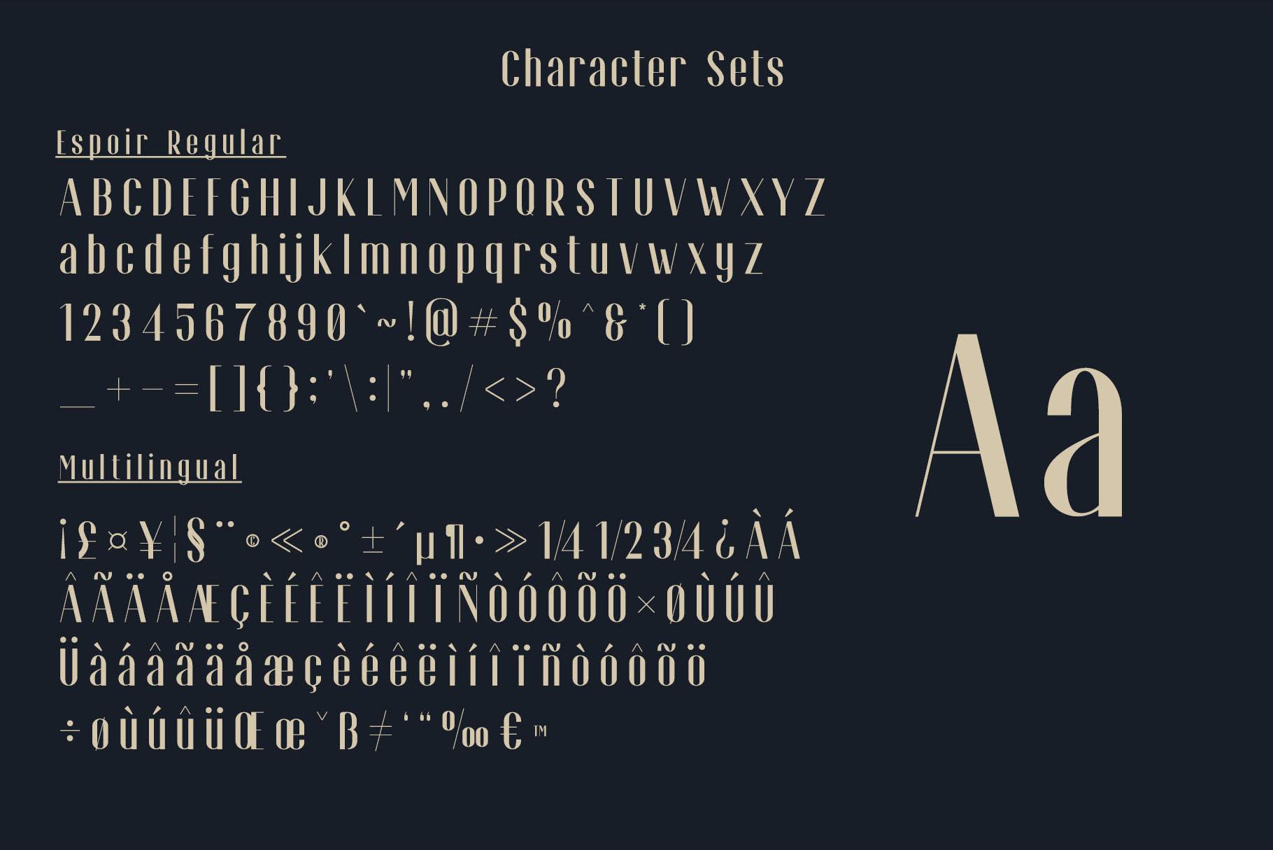 Espoir Font Family example image 5