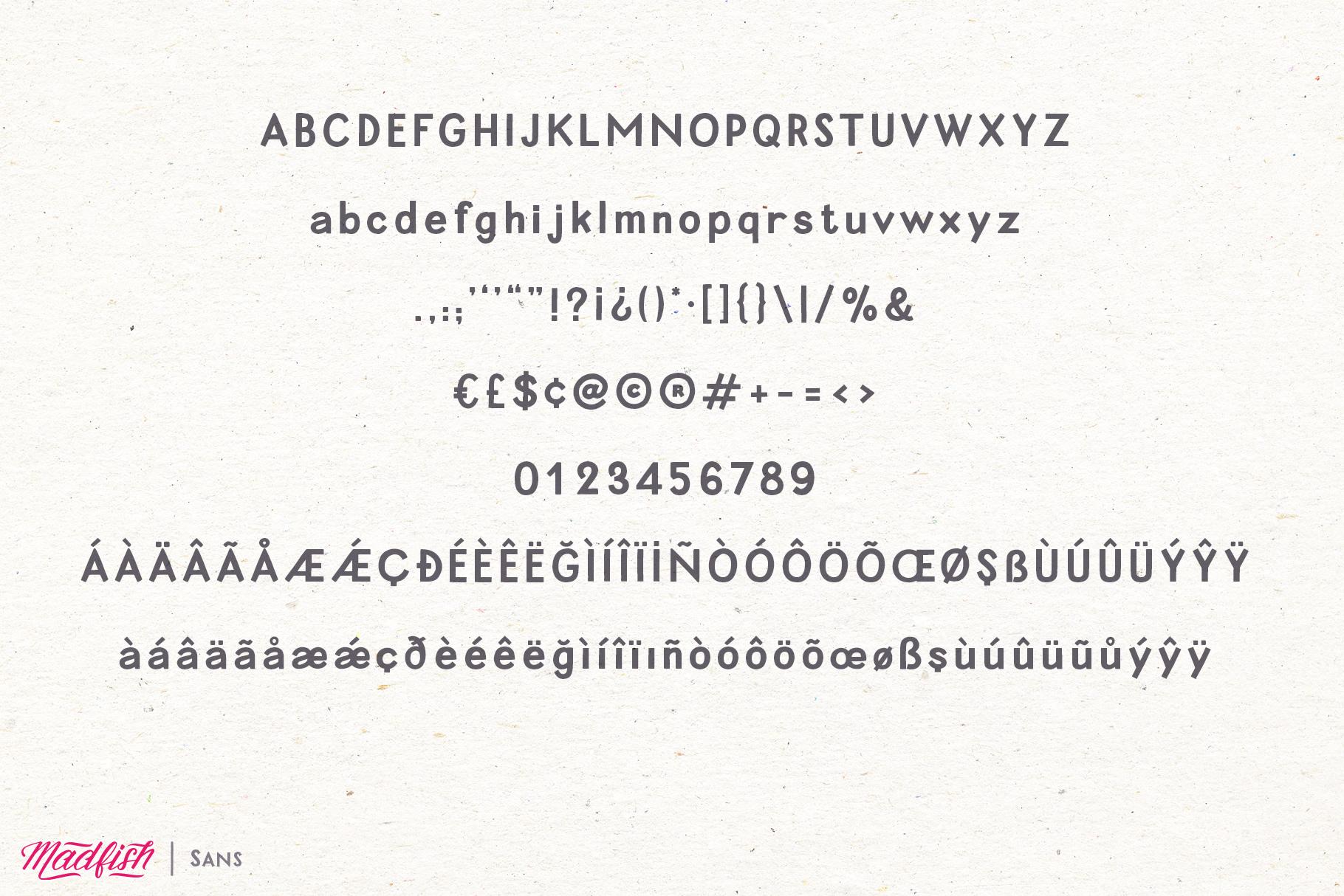 Madfish Font Family  Extras example image 11