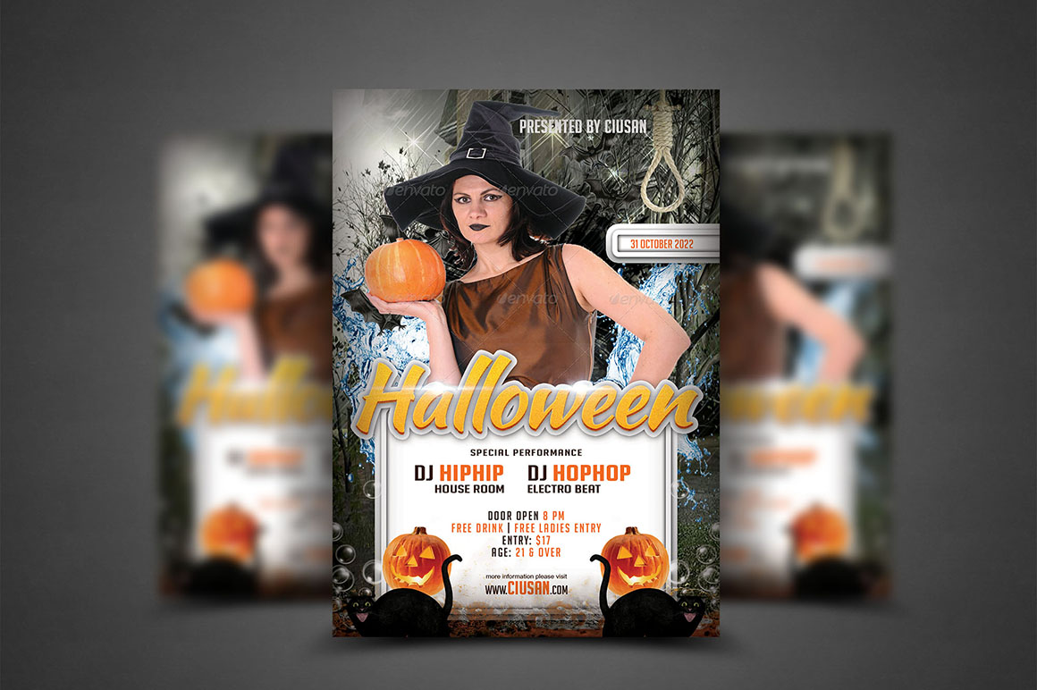 Halloween Flyer Template - Bundle example image 10