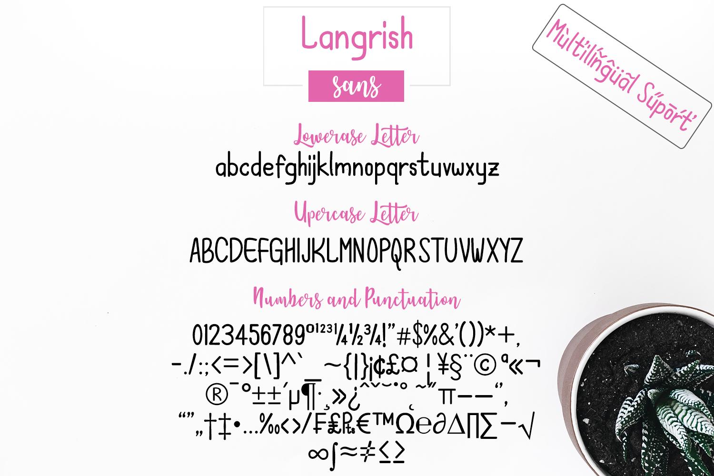 Langrish Font Duo example image 4