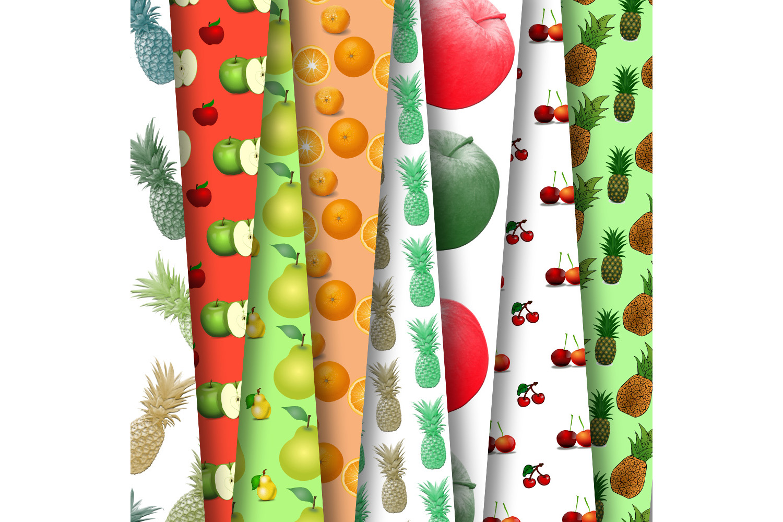 Fruit Digital Paper, Printable Paper, Digital Paper, SALE example image 1