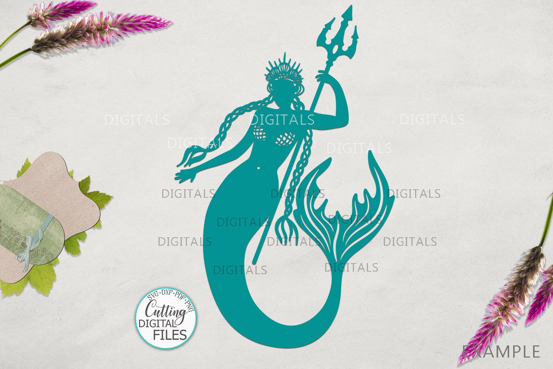 Mermaids Silhouette Bundle svg dxf machine cut templates example image 6