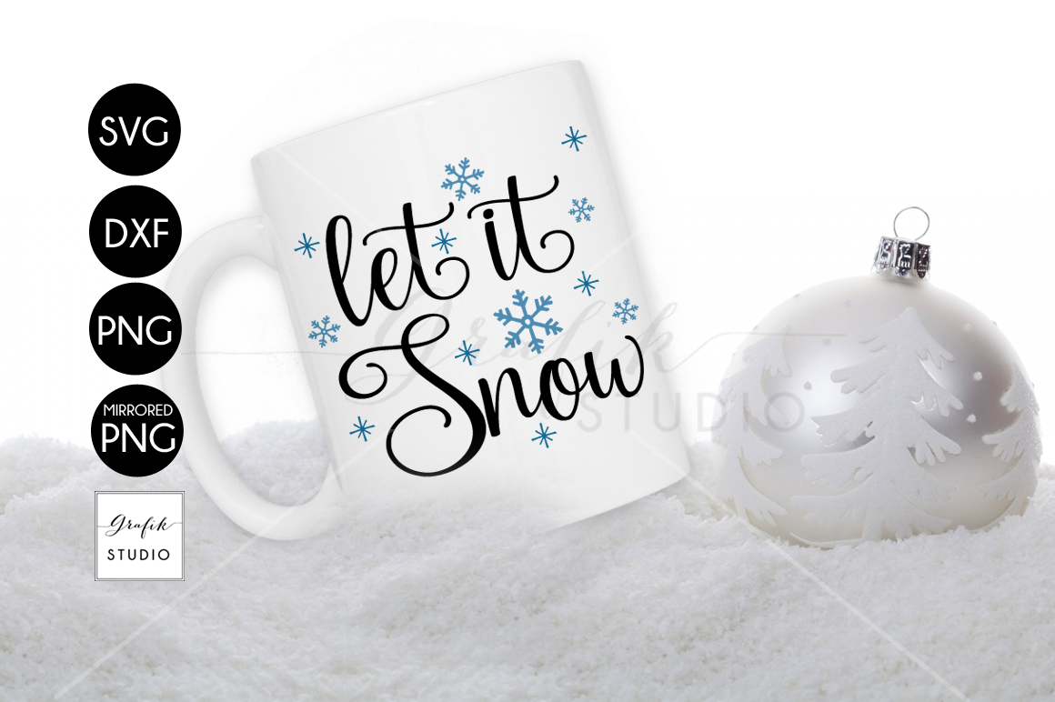 Let it Snow Christmas holiday SVG File example image 1
