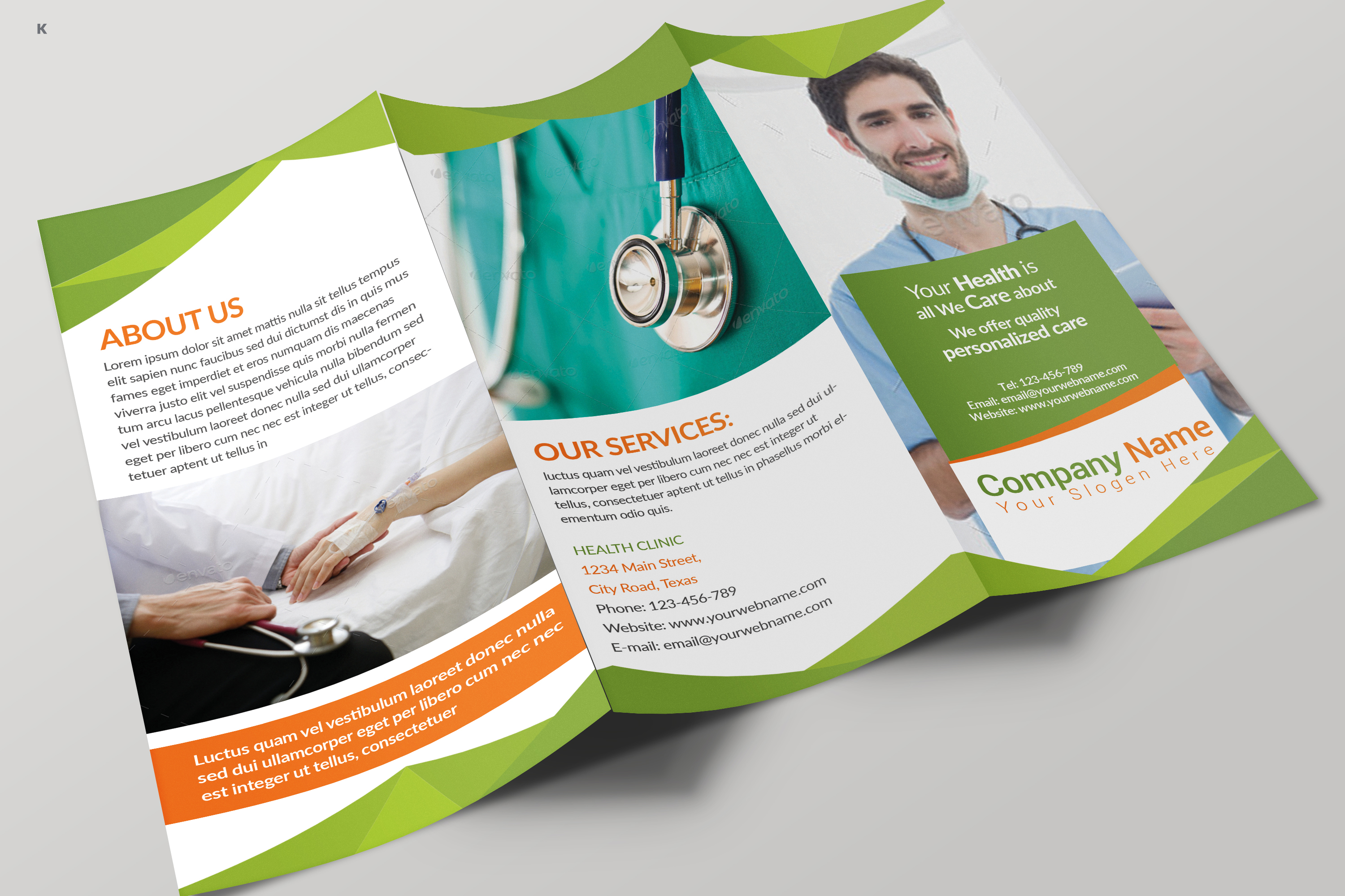 Health Care Trifold example image 1