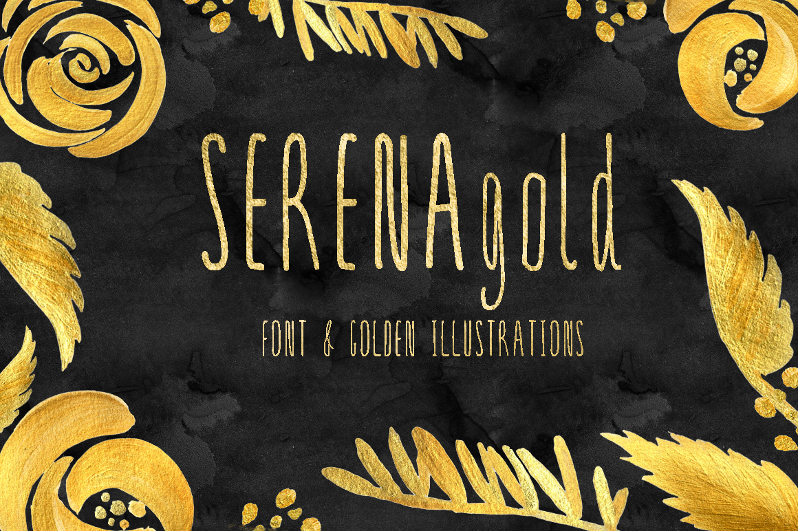 SERENA gold. Font example image 2