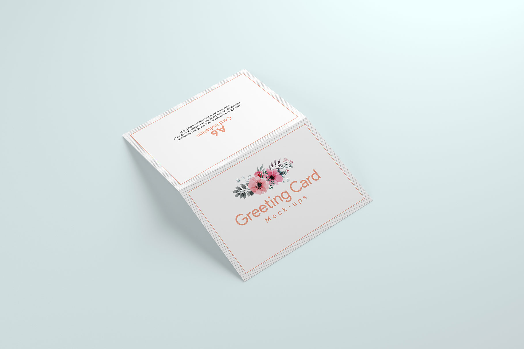 A6 Greeting Card Invitation X2 example image 6