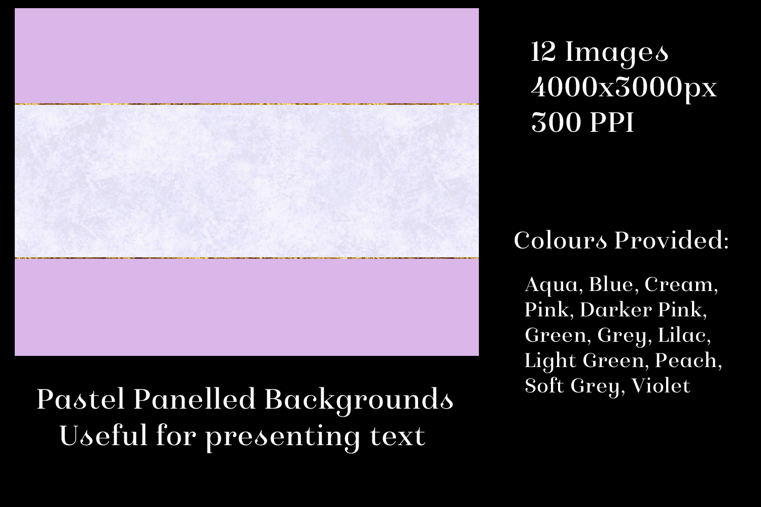 Pastel Panelled Backgrounds - 12 Image Textures Set example image 2