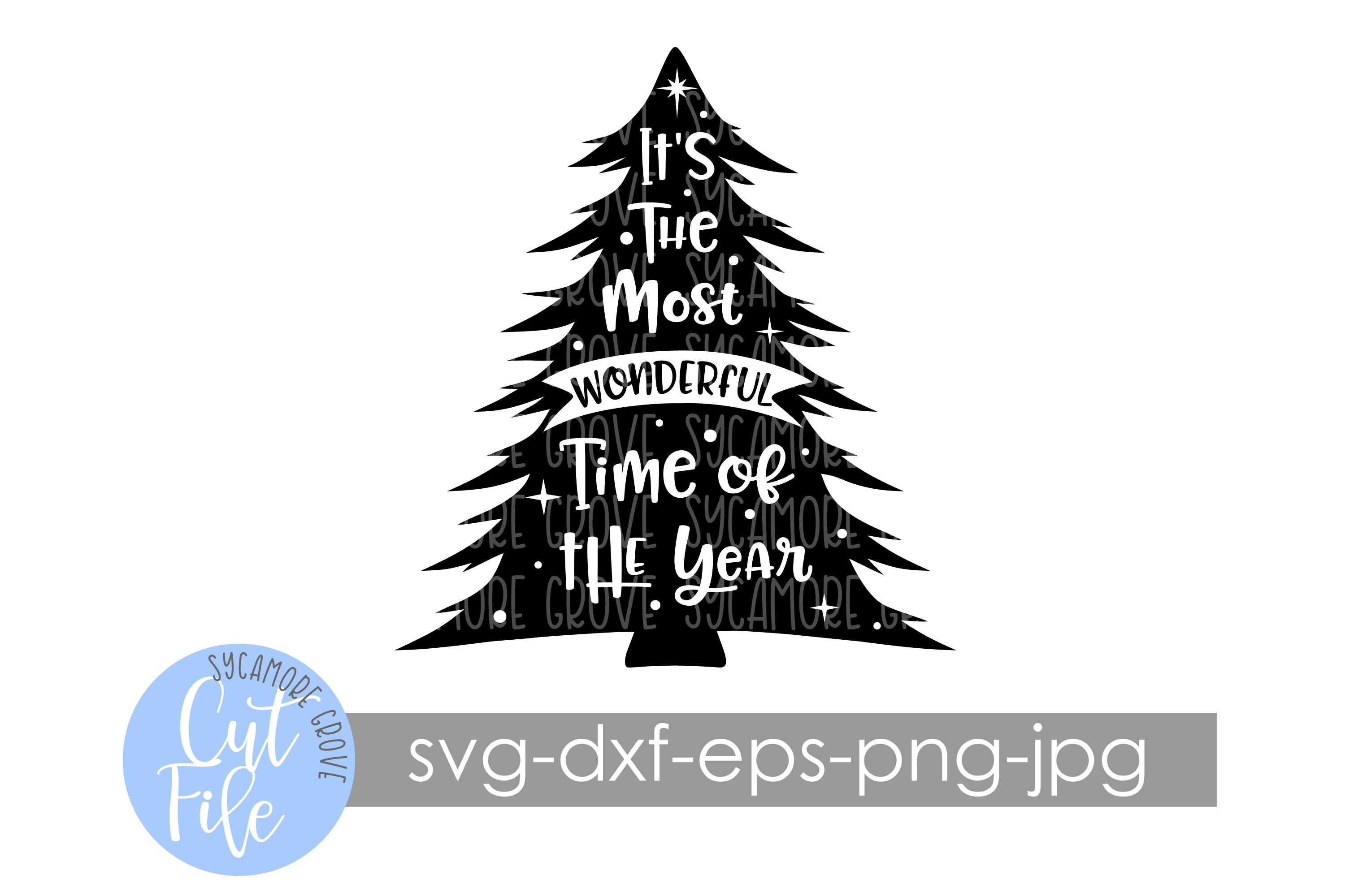 It's The Most Wonderful Time Of The Year | Christmas SVG example image 6