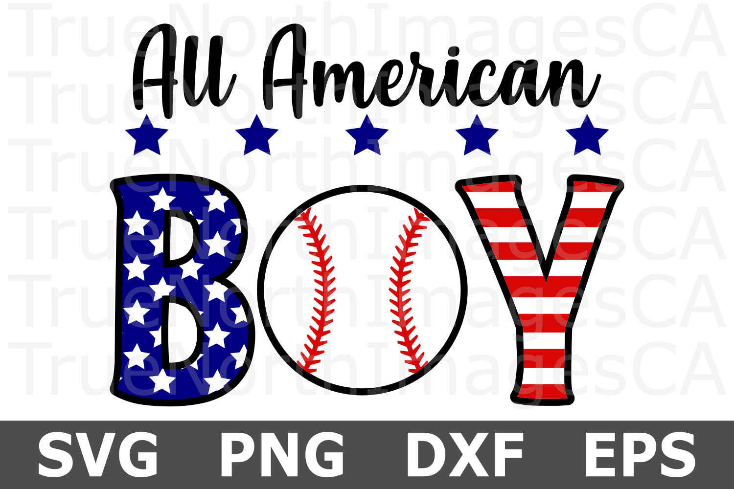 All American Boy - A Sports SVG Cut File example image 1