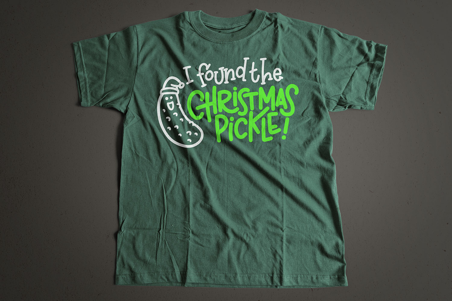 I Found the Christmas Pickle - Hand-lettered Cut File Design example image 2