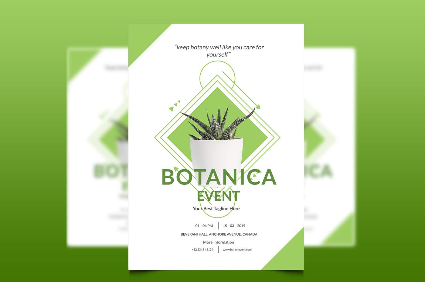 Botani Event Flyer & Poster example image 2