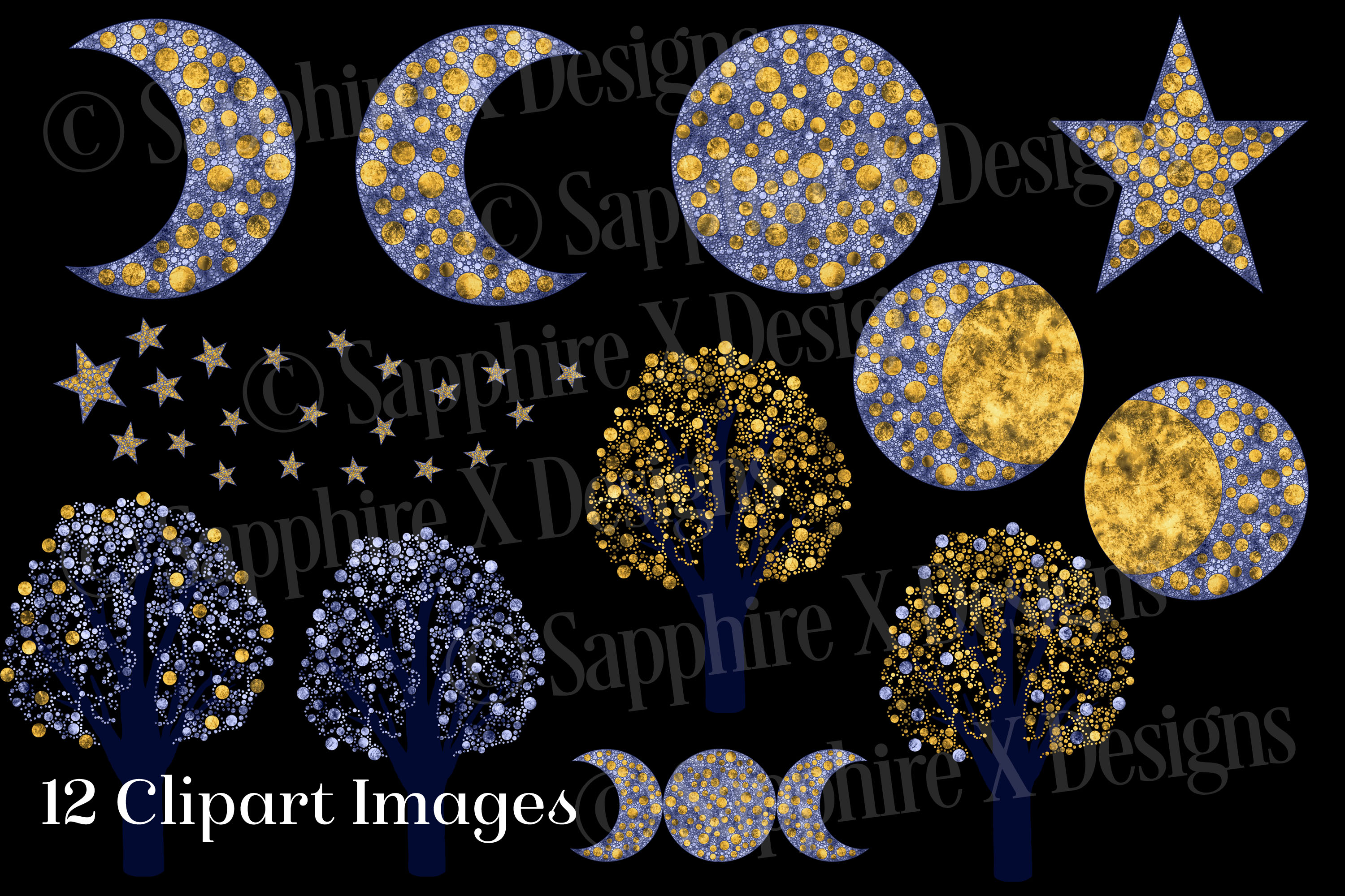 Celestial Sky - 12 PNG Clipart Images example image 2
