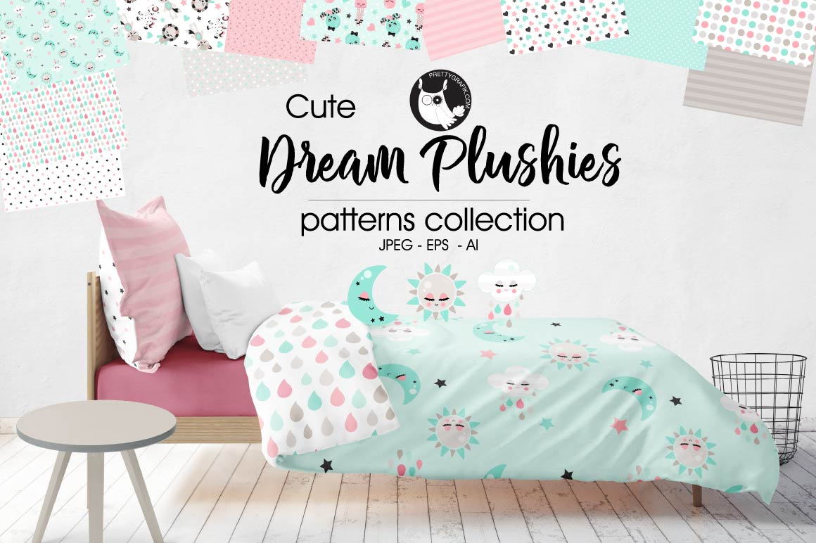 DREAM-PLUSHIES , digital papers example image 1
