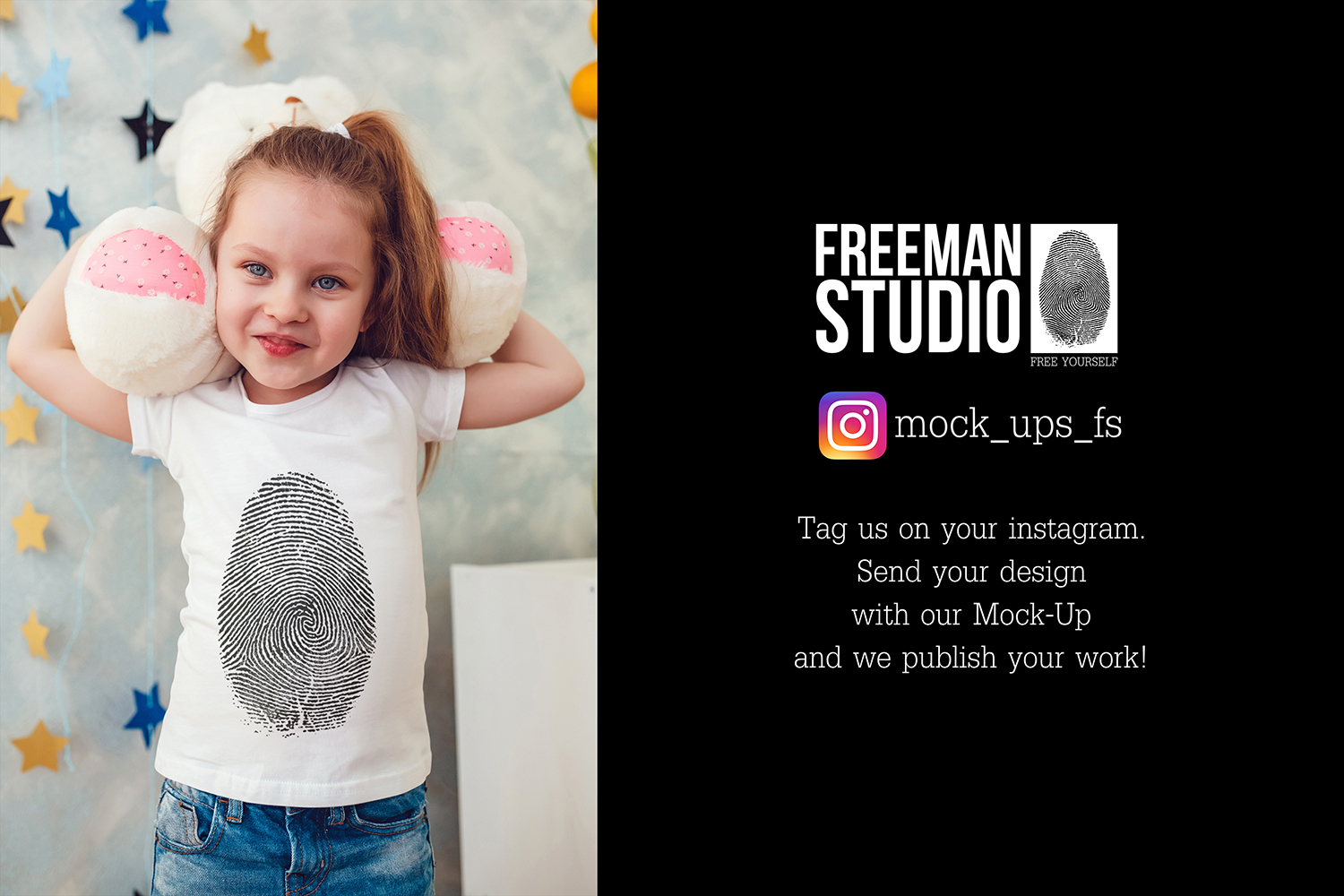 Kids T-Shirt Mock-Up Vol.4 2017 example image 2