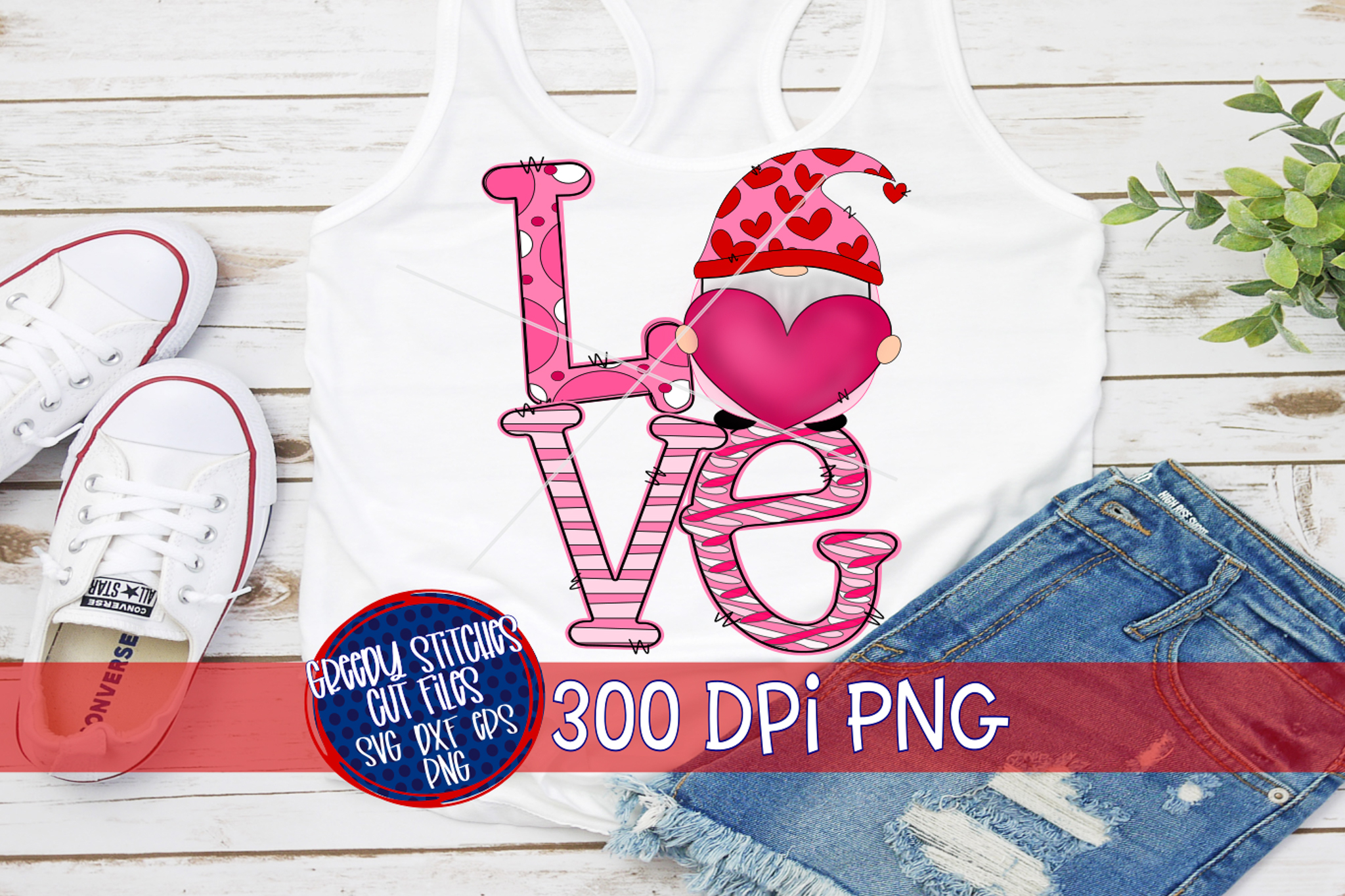 Download Valentine's Day  Gnome Love PNG For Sublimation