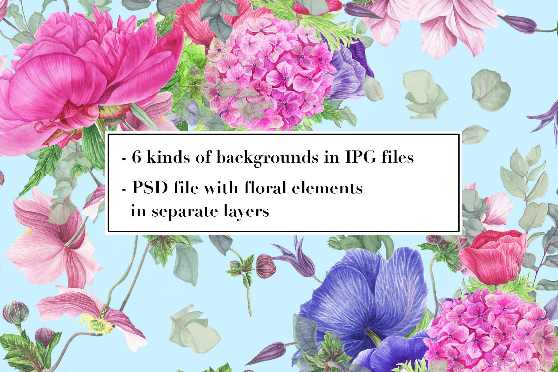 Peonies patterns example image 8