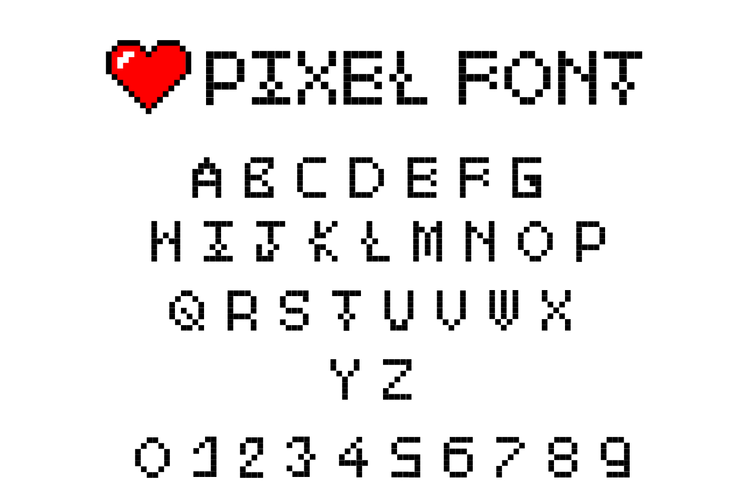 Pixel - 2X 16-Bit Gaming and Doted Font example image 4
