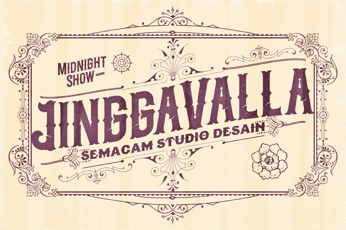Midnight Show typeface example image 4