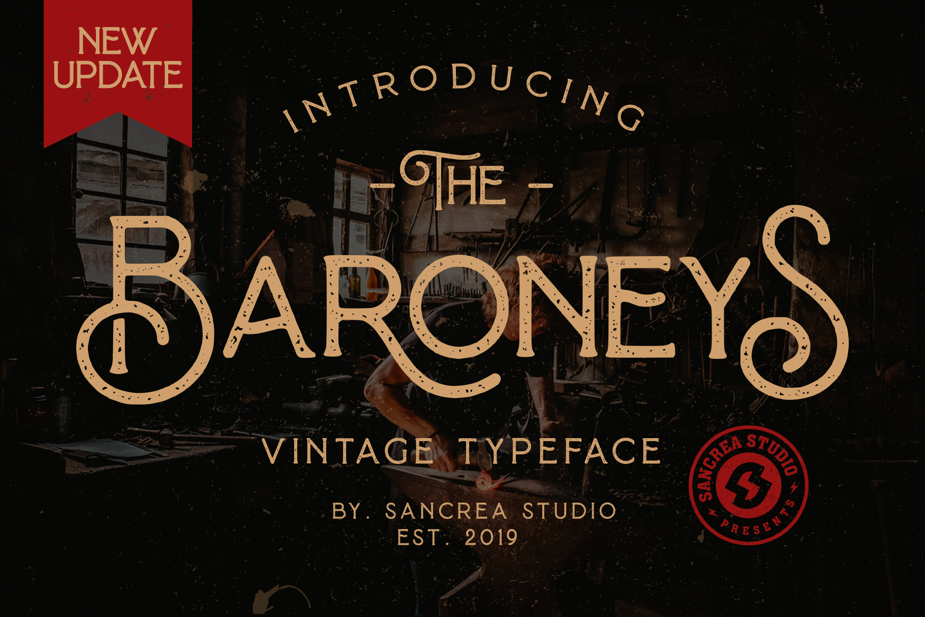 Baroneys - Vintage Typeface example image 1