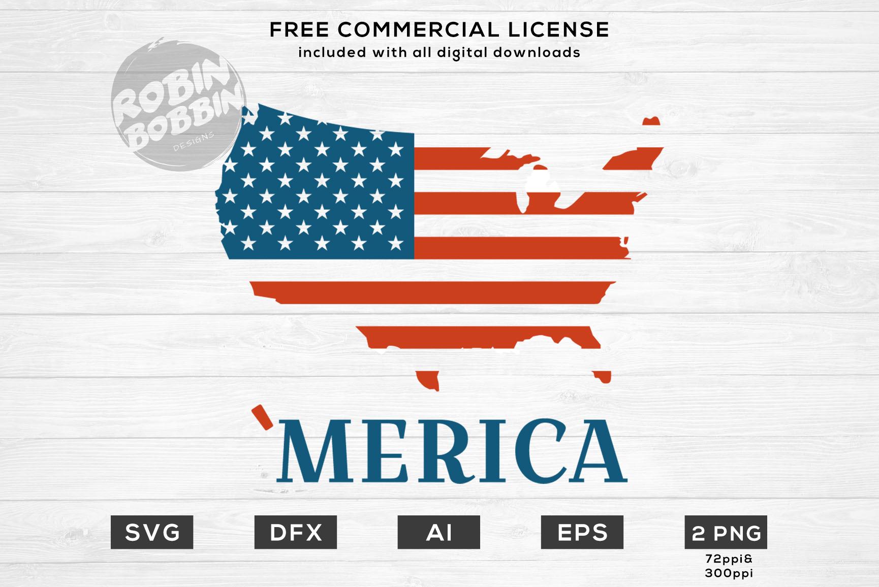 'Merica - America Design for T-Shirt, Hoodies, Mugs and more example image 1