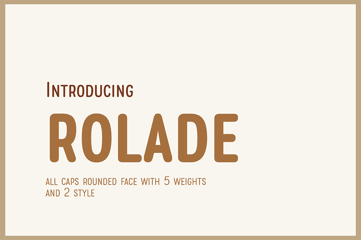 Rolade Typeface example image 1