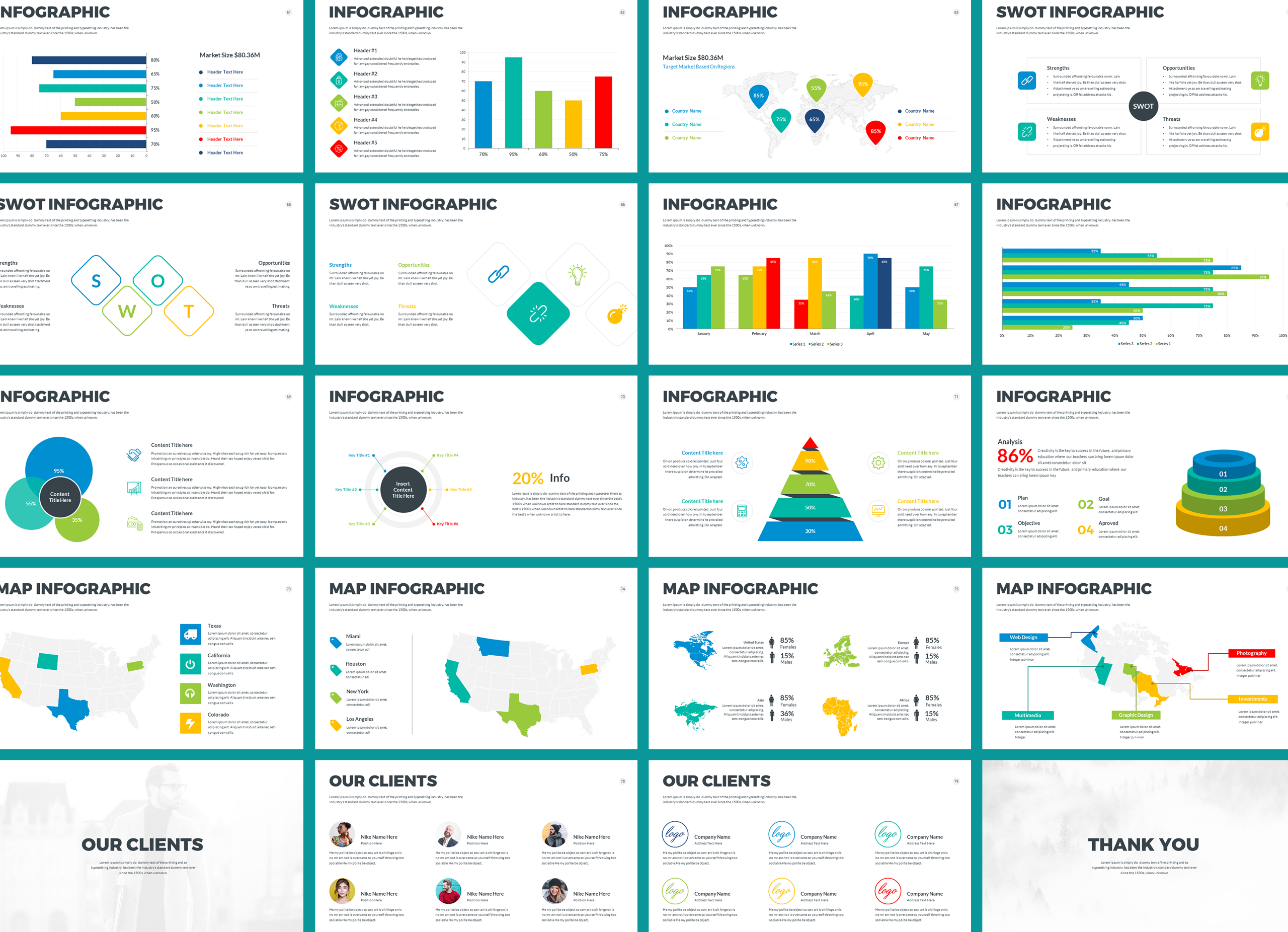 Four Business Powerpoint Presentation Template example image 5