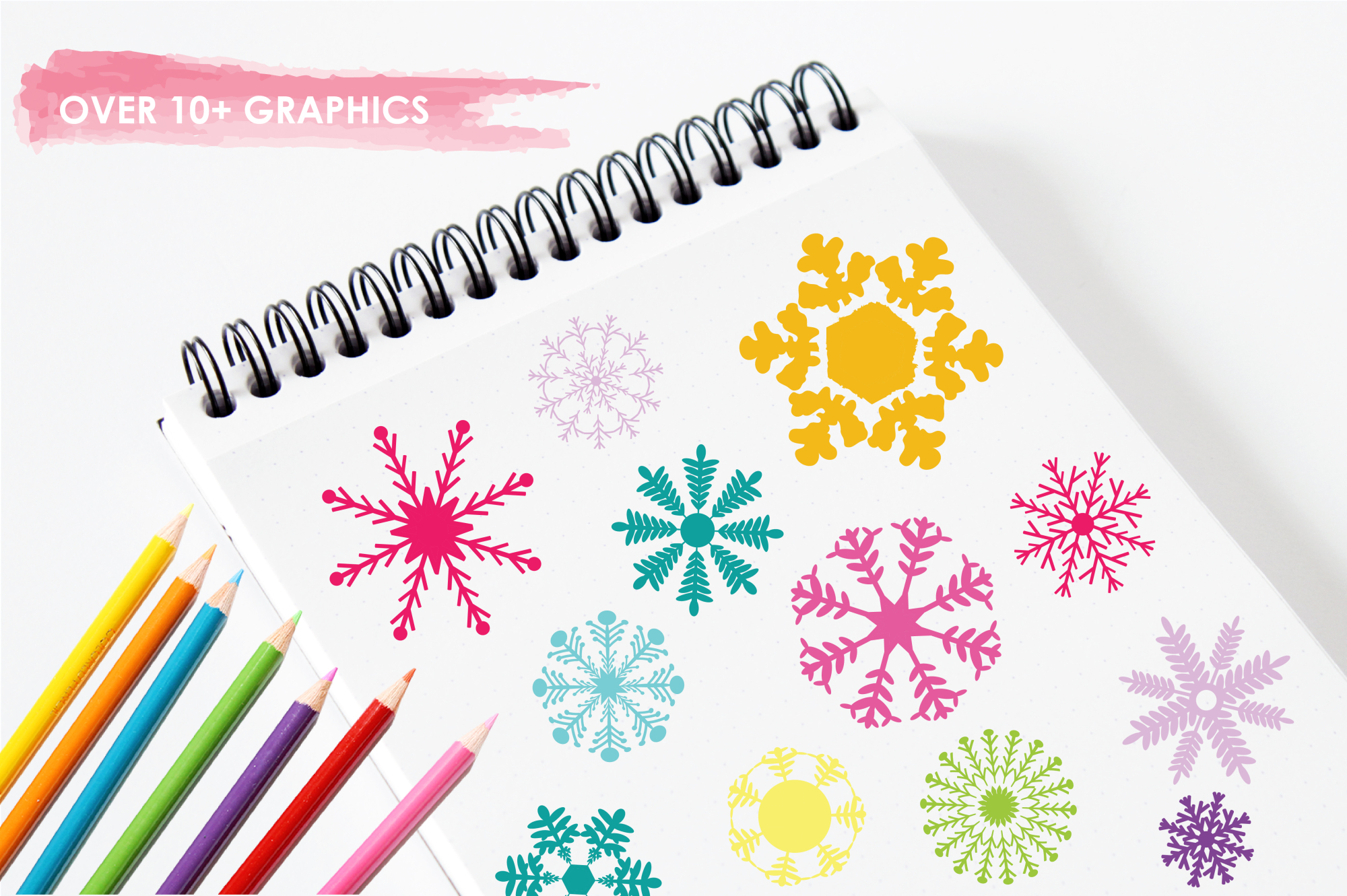 Snowflakes Icons graphics and illustrations example image 3