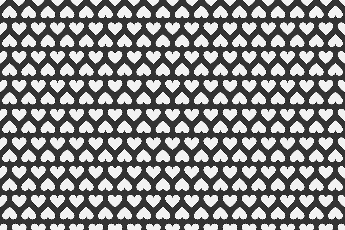 Set of seamless patterns with hearts example image 13