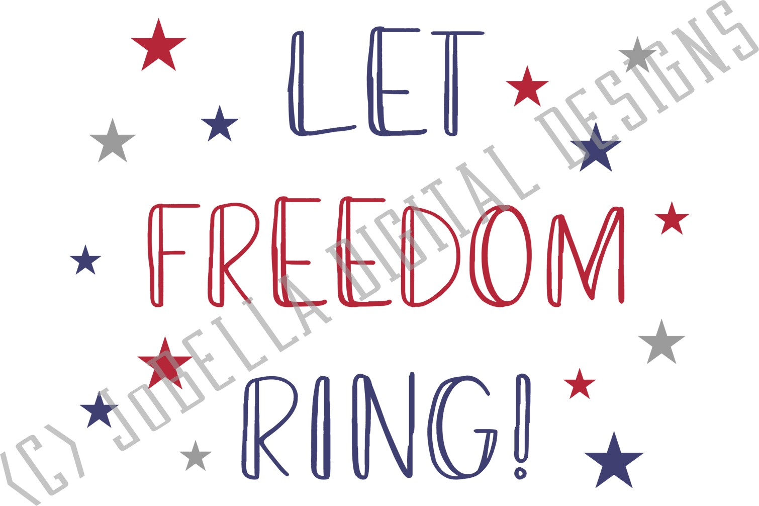 Let Freedom Ring! Fourth of July SVG & Sublimation Design example image 5