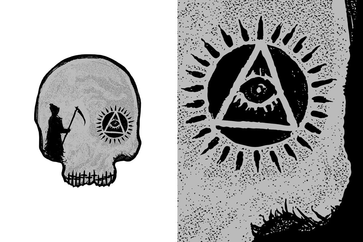 20 VECTOR skull illustration example image 13