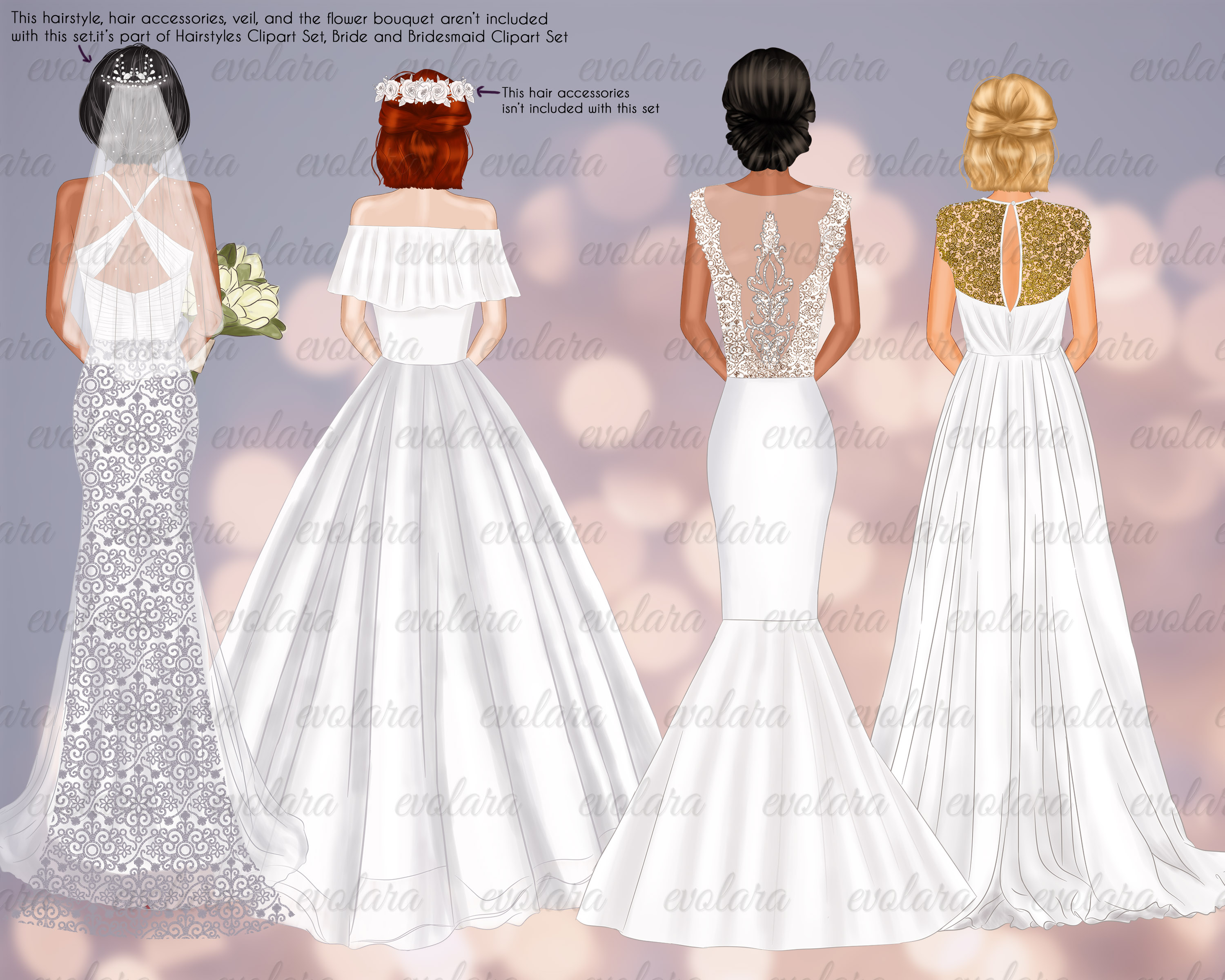 Bride Clipart Bridesmaid Clipart Best Friends Wedding example image 8