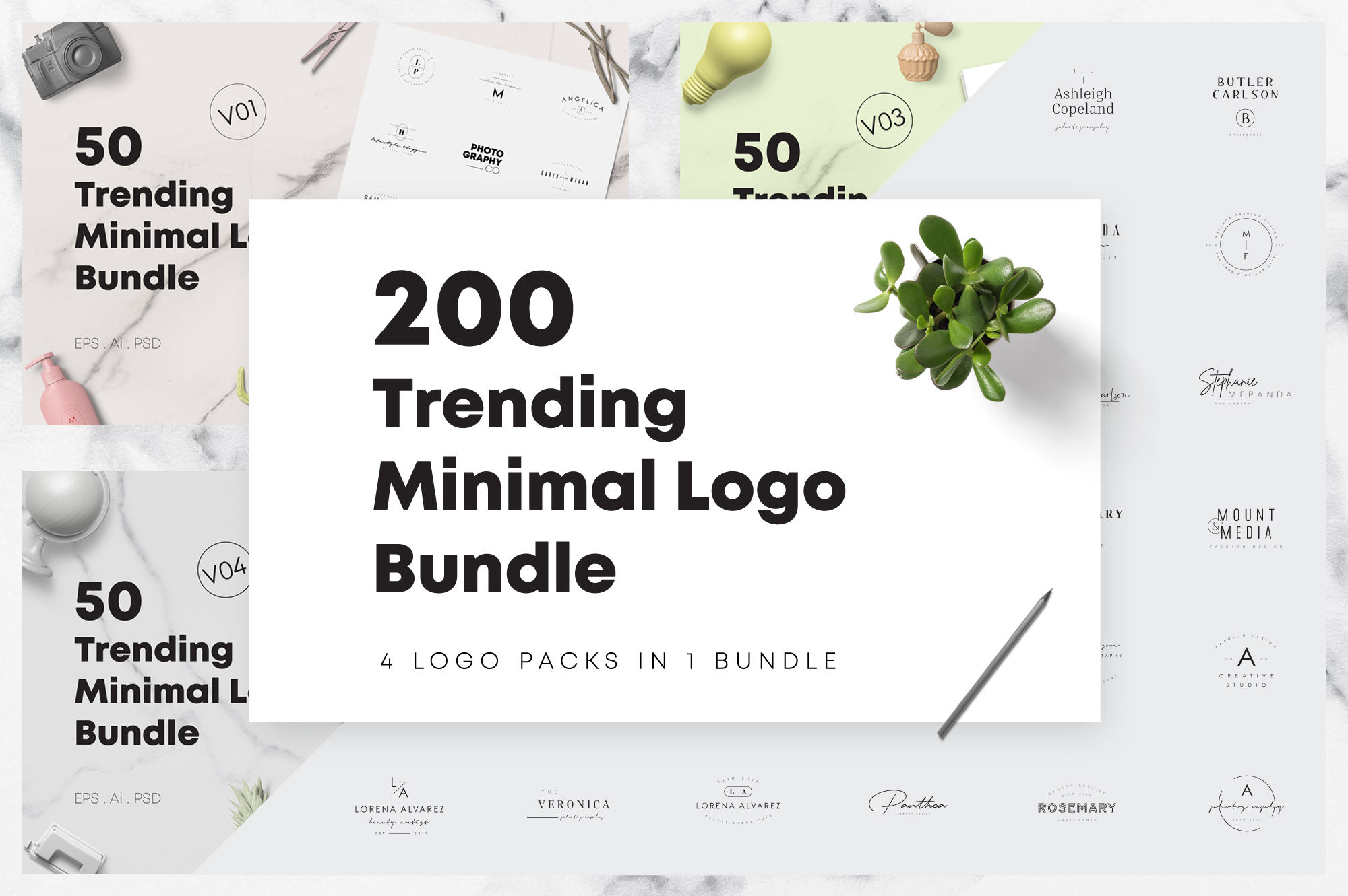 200 Trending Minimal Logo Bundle example image 1