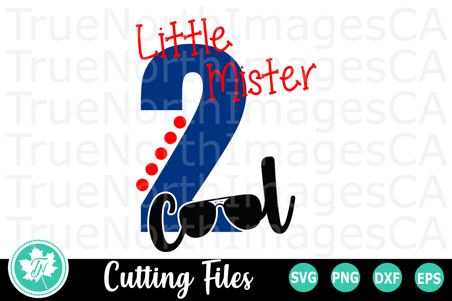 Little Mister Two Cool - A Second Birthday SVG Cut File example image 2