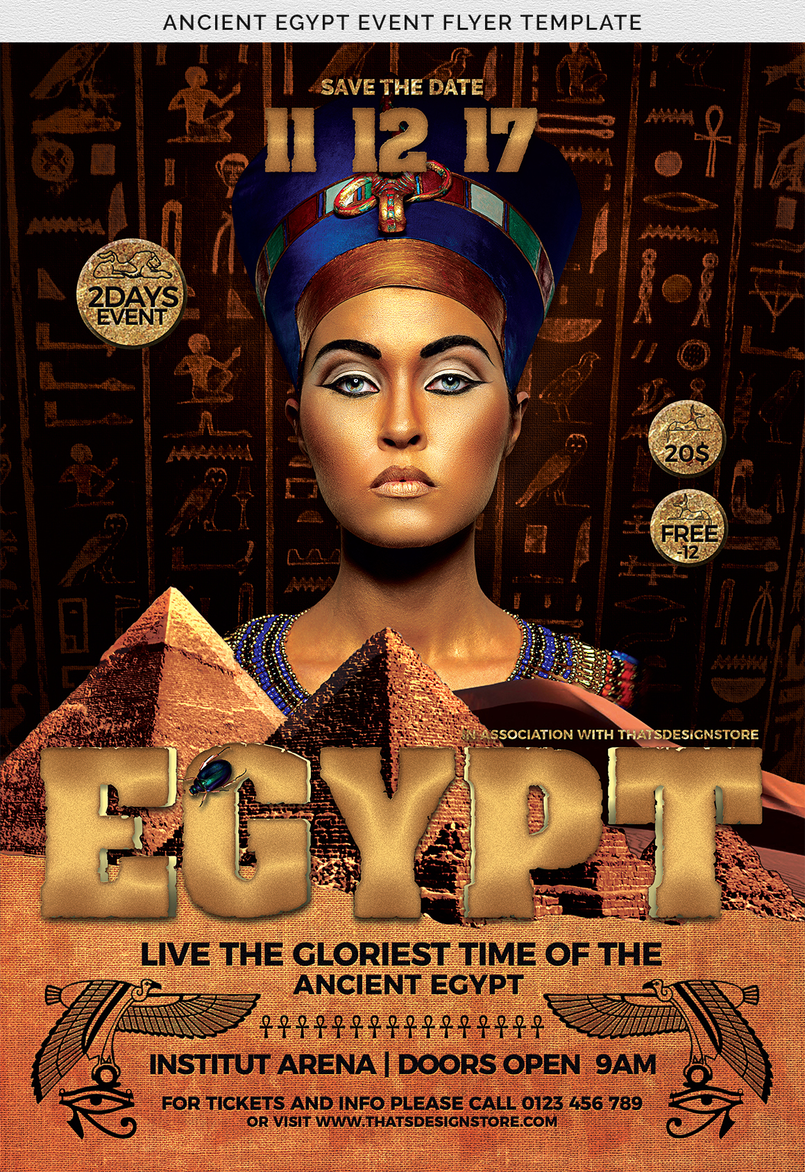 Ancient Egypt Event Flyer Template example image 8