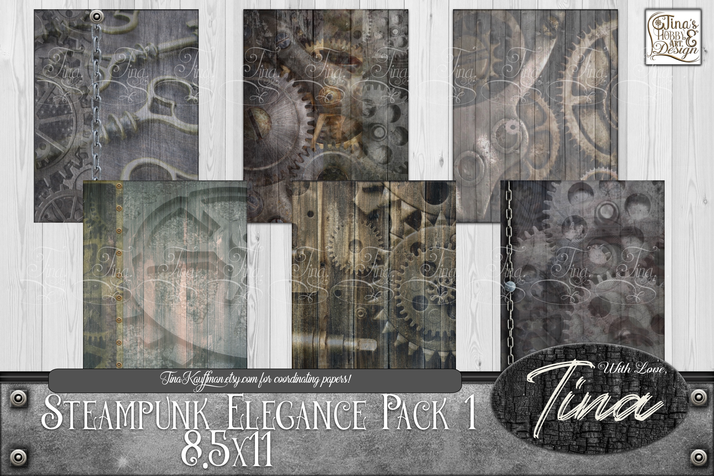 Steampunk Elegance Collage Keys Gears Locks 092918SE1 example image 2