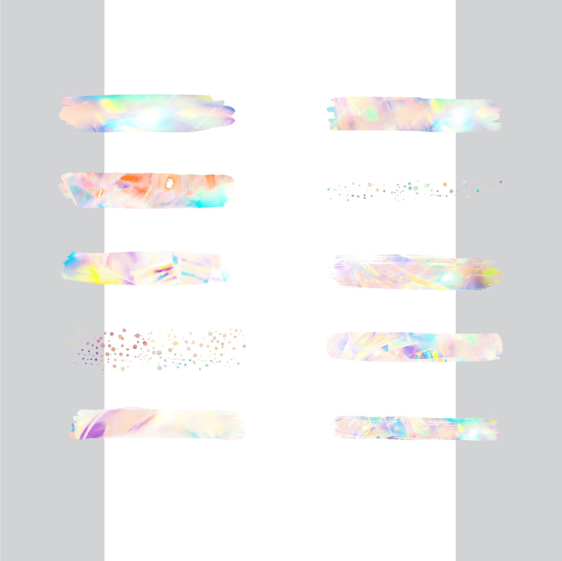 Large Holographic Brush Strokes example image 3