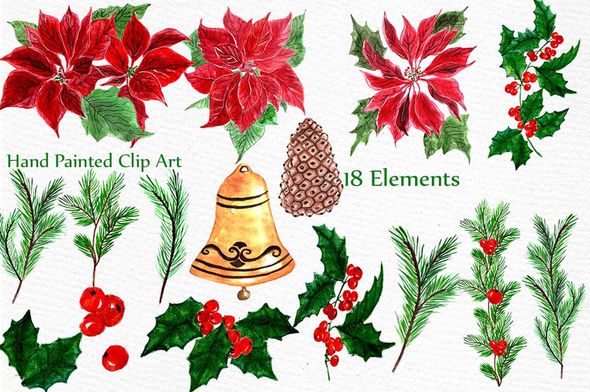Christmas Wreaths Clip Art example image 4