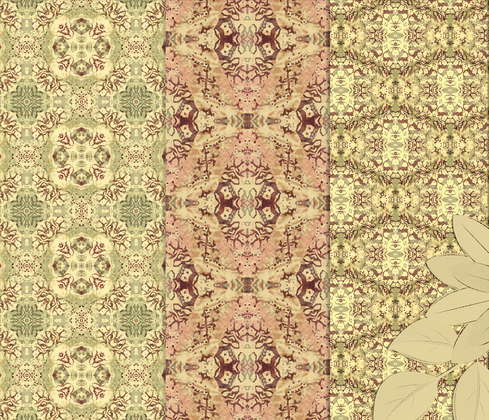 Vintage Abstract Patterns, Digital Scrapbook Paper example image 5