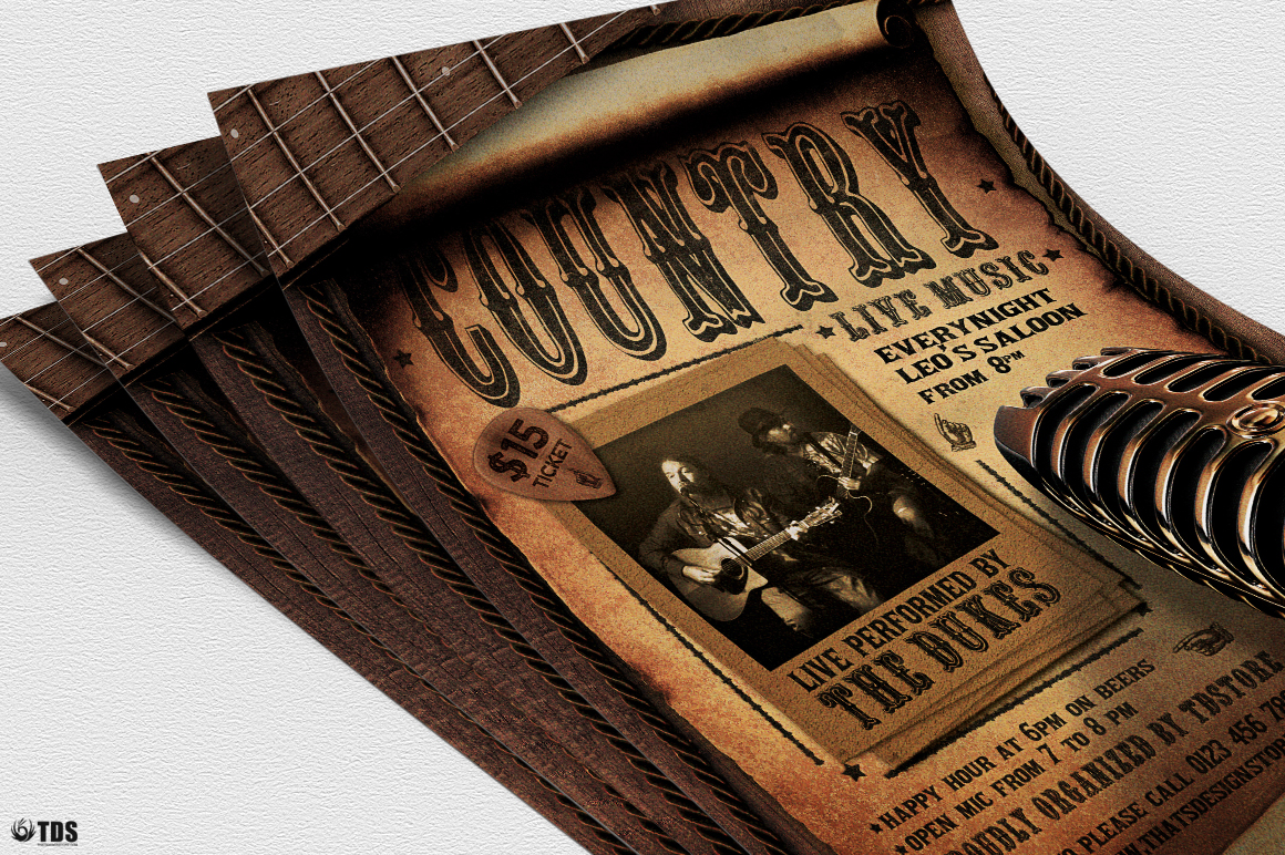 Country Live Flyer Template V5 example image 5