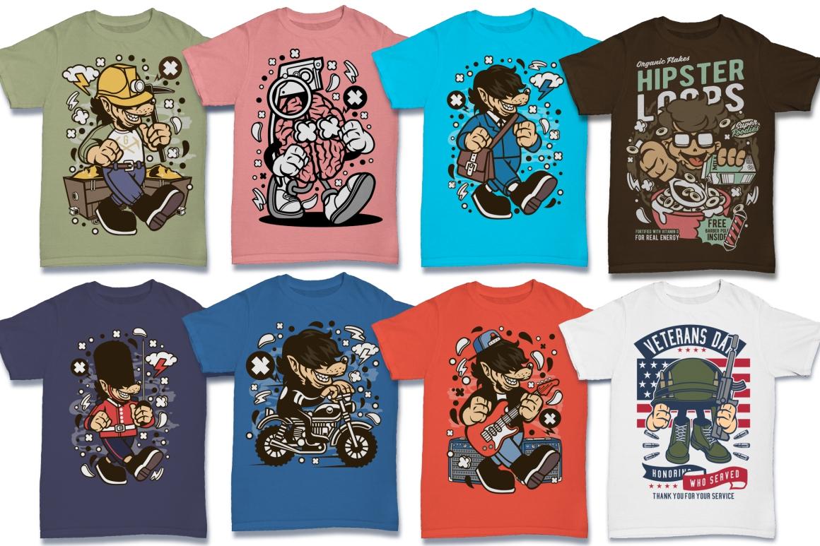Cartoon Vector #6 Tshirt Design Bundle example image 29