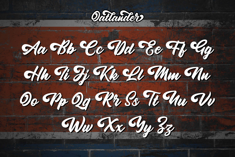 Oatlander - Authentic Bold Script example image 9