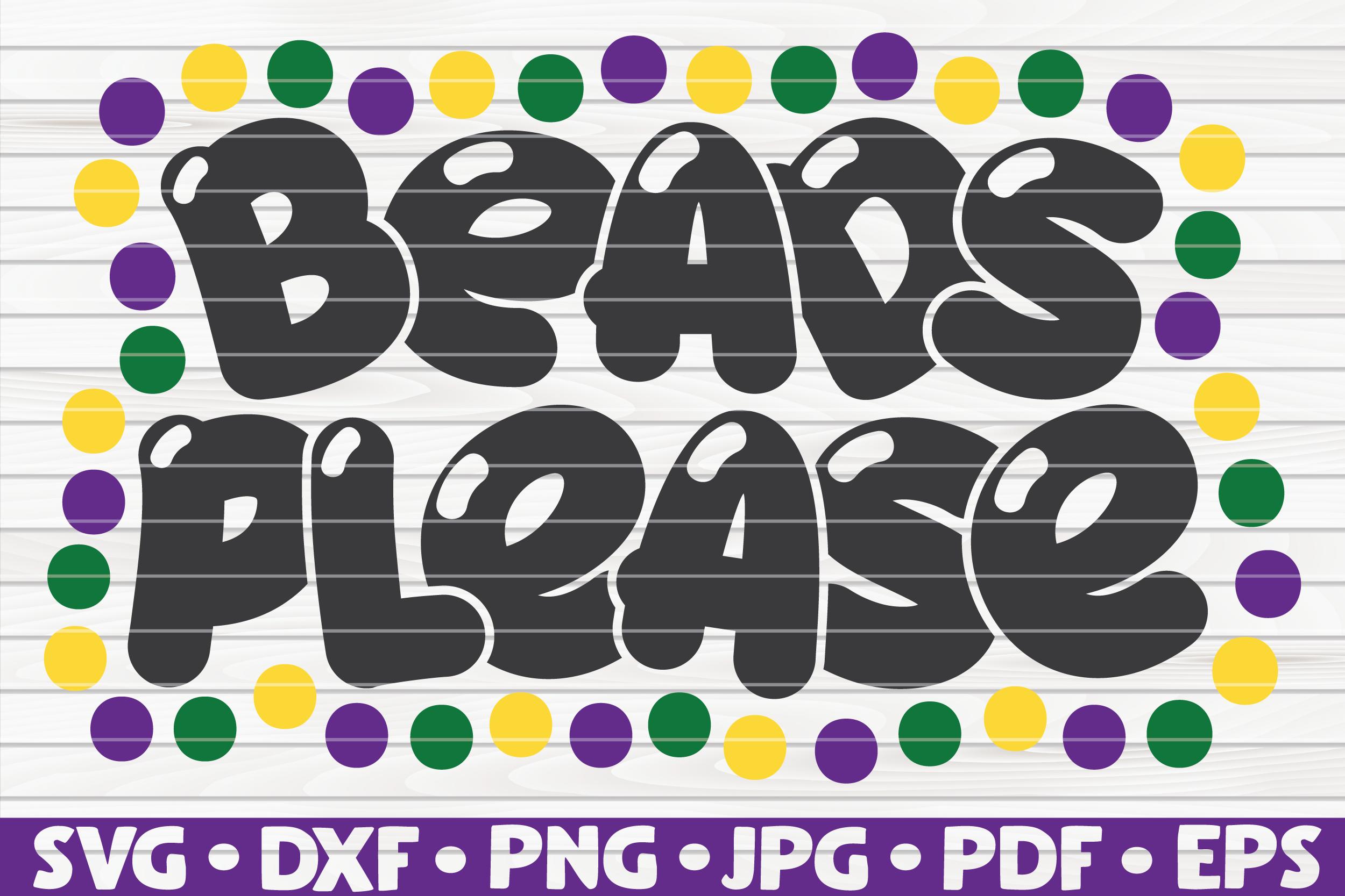 Beads Please| Mardi Gras saying | SVG | cut file example image 1