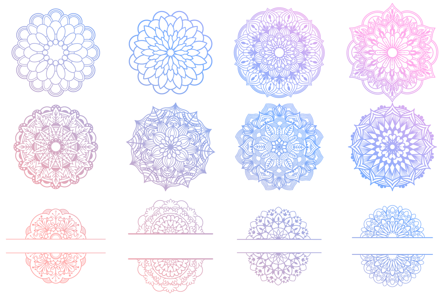 Mandala SVG Files Bundle - 40 Cut Files example image 9
